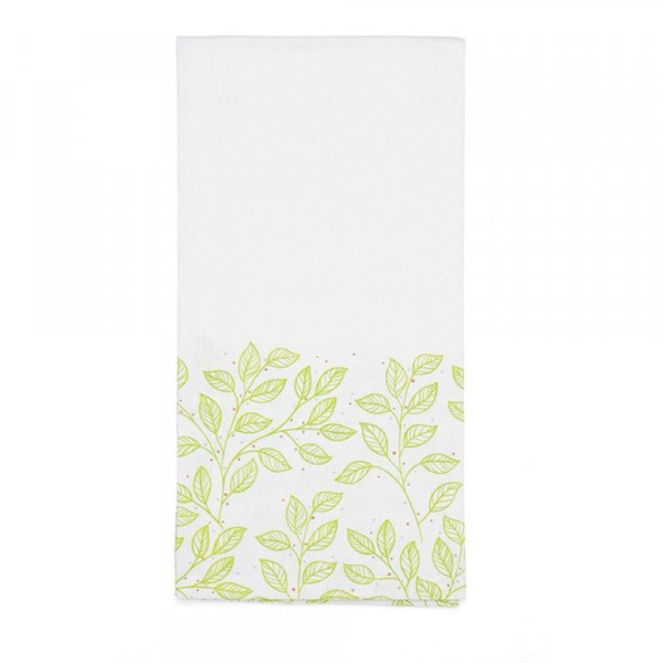 Spring Leaves Tea Towel