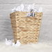 Natural Banana Leaf Waste Paper Basket | M&W - Image 2