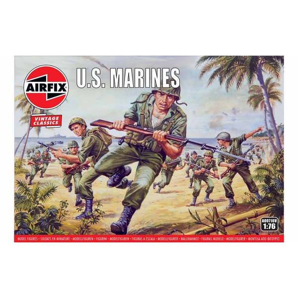 WWII US Marines 1:76 Air Fix Figures