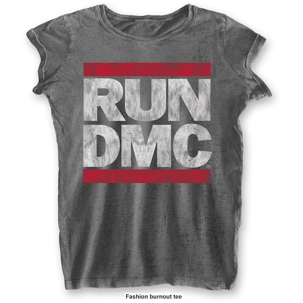 Run DMC - DMC Logo Women's Large T-Shirt - Grey