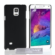 YouSave Accessories Samsung Galaxy Note 4 Hard Hybrid Case - Black