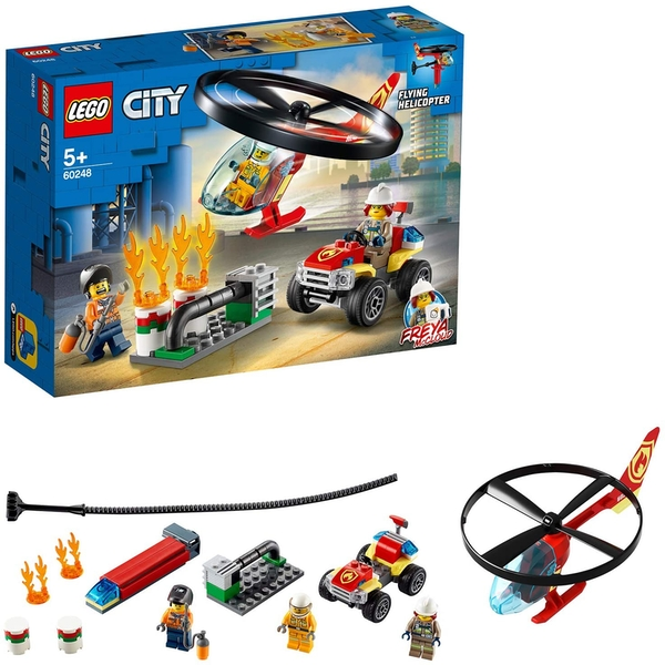 Lego City Fire Fire Helicopter Response Construction Set