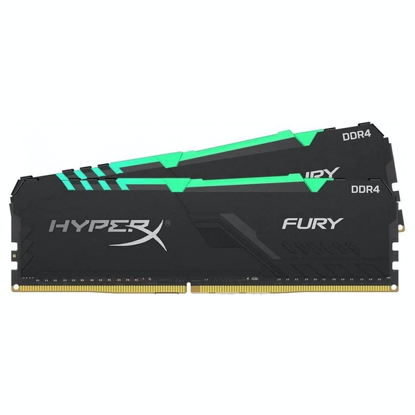 Kingston HyperX Fury RGB 32GB (2x16GB) DDR4 PC4-28800C18 3600MHz Dual Channel Kit