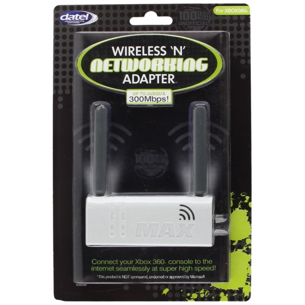 Datel Wireless N Network Adaptor In White Xbox 360