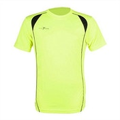 Precision S/S Running Shirt Adult Fluo Yellow/Black - Medium