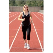 PT Ladies Running Vest Black/White UK Size 12 36inch
