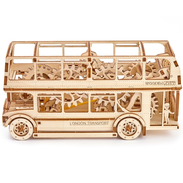 London Bus Wooden City 3D Wooden Model Kit