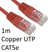 RJ45 (M) to RJ45 (M) CAT5e 1m Red OEM Moulded Boot Copper UTP Network Cable