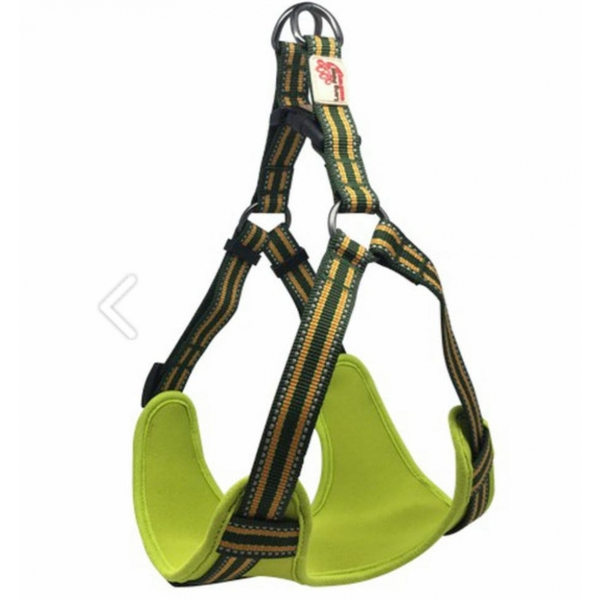 Long Paws Green Comfort Collection Padded Harness M