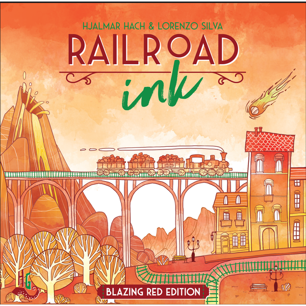 Railroad Ink: Blazing Red Edition Board Game