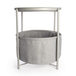 Circular End Table with Fabric Storage Basket Light Grey | M&W - Image 3