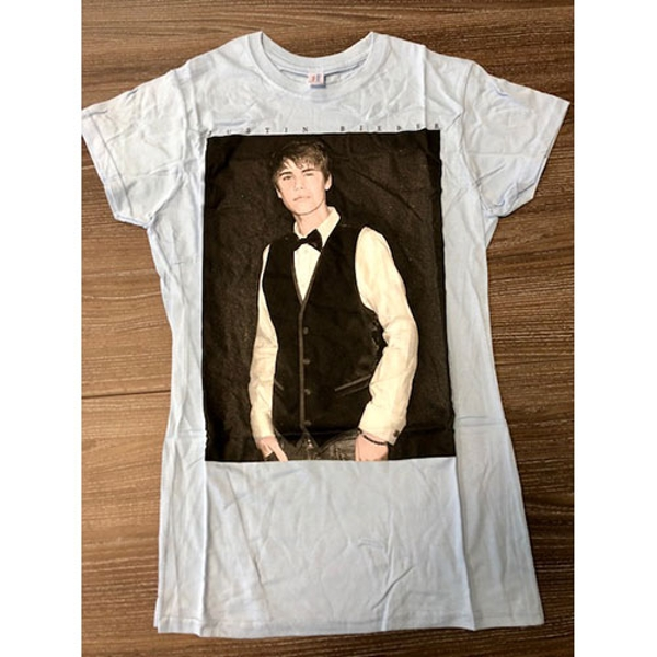 Justin Bieber - Tux Women's Large T-Shirt - Blue