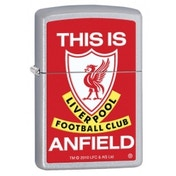 Zippo Liverpool FC 'This Is Anfield' Satin Chrome Windroof Lighter