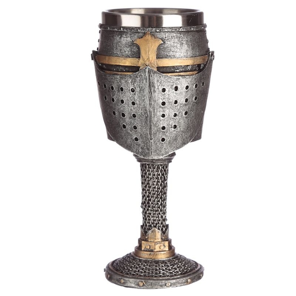 Medieval Helmet and Chain Mail Goblet
