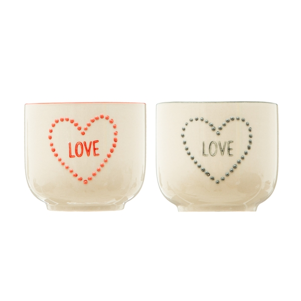 Sass & Belle (Set of 2) Love Heart Planters