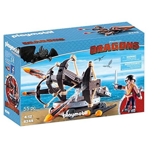 Playmobil DreamWorks Dragons Eret with 4 Shot Fire Ballista