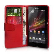 YouSave Accessories Sony Xperia Z Leather-Effect Wallet Case - Red