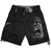 Night Walkers Men's XX-Large Vintage Cargo Shorts - Black