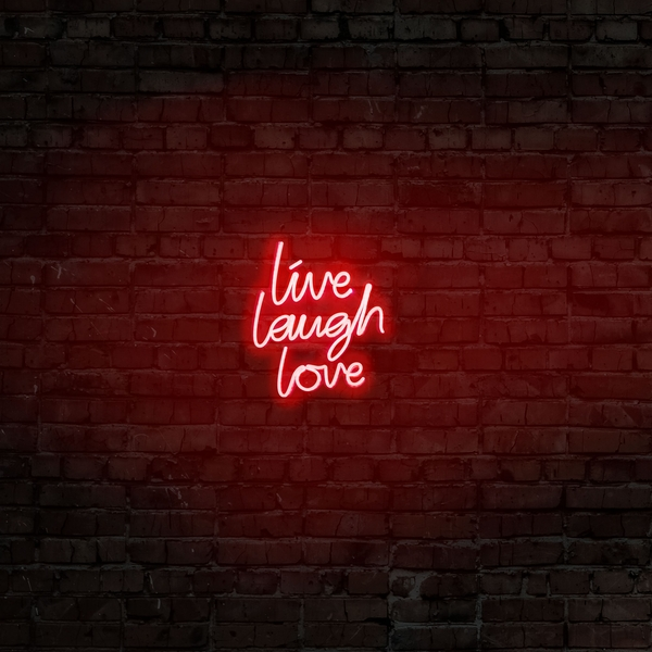 Live Laugh Love - Red Red Wall Lamp
