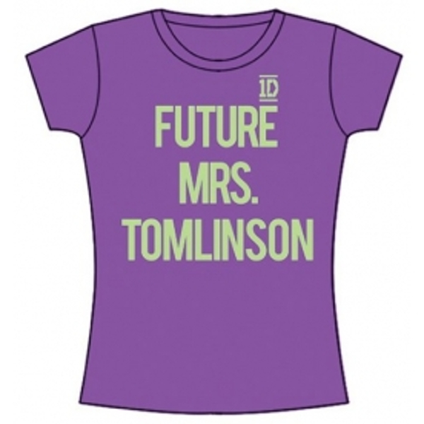 One Direction Future Mrs Tomlinson Skinny Purple TS: Small