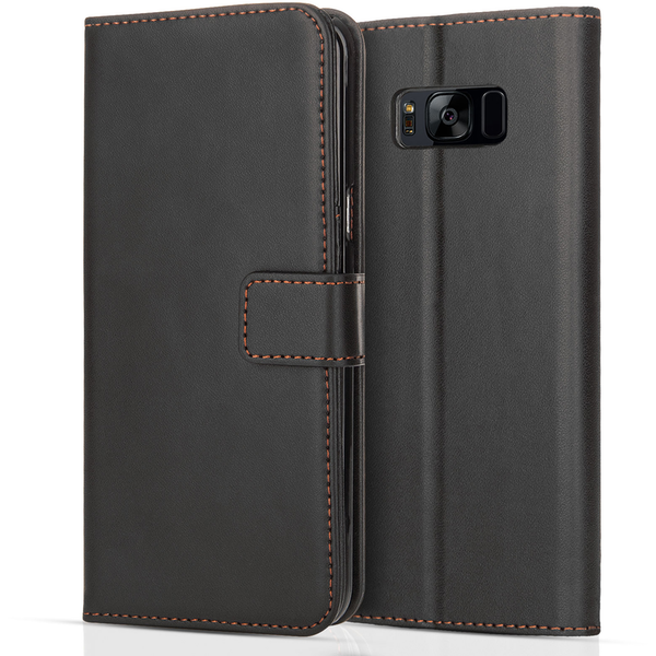 YouSave Accessories Samsung Galaxy S8 Plus PU Leather Stand Wallet - Black