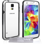 YouSave Accessories Samsung Galaxy S5 Bumper Case - Clear-Black