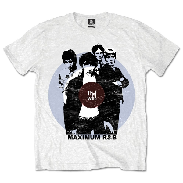 The Who - Maximum R&B Unisex Large T-Shirt - White