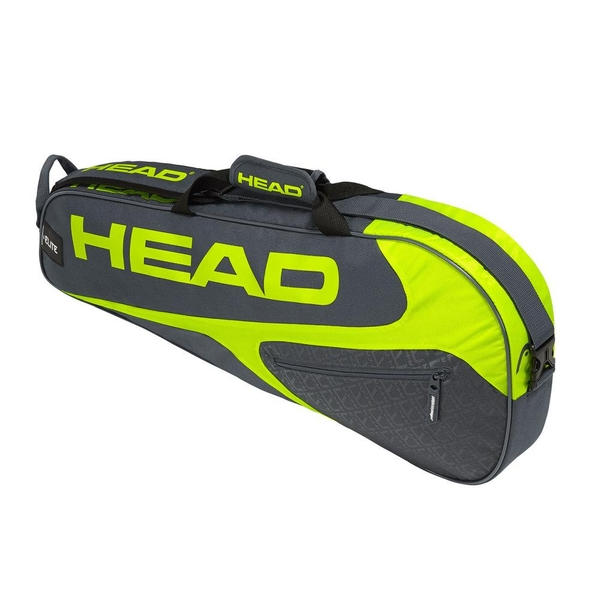 Head Elite 3 Rackets Pro Holdall Grey/Neon Yellow