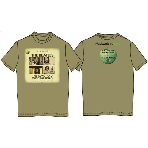 The Beatles - Long & Winding Road Unisex Small T-Shirt - Brown