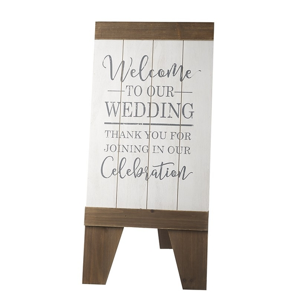 Standing Welcome To Our Wedding Board By Heaven Sends