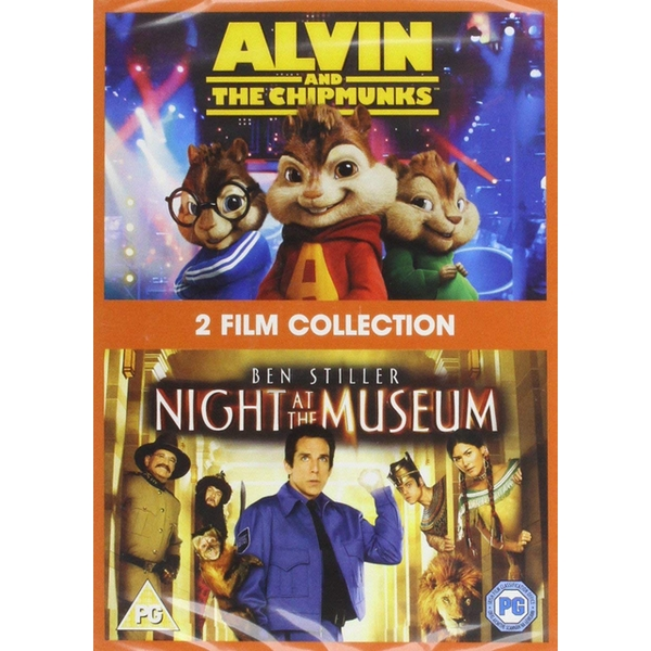 2 Film Collection - Alvin & The Chipmunks + Night At The Museum DVD