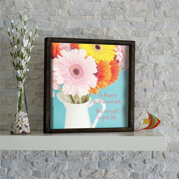 KZM592 Multicolor Decorative Framed MDF Painting
