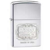 Zippo Bradford PA High Polish Chrome Finish Windproof Lighter