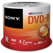 Sony 50 X 4.7GB DVD-R 16X REC SPEED