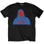 Post Malone - Red & Blue Photo Men's Medium T-Shirt - Black
