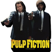 Pulp Fiction Duo Guns Magnet