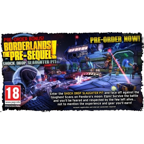 Borderlands The Pre-Sequel! PC Game (with Shock Drop Slaughter Pit DLC) (Boxed and Digital Code) - Image 2
