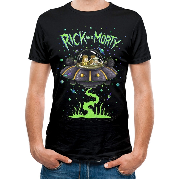 Rick And Morty - Space Unisex XX-Large T-shirt - Black