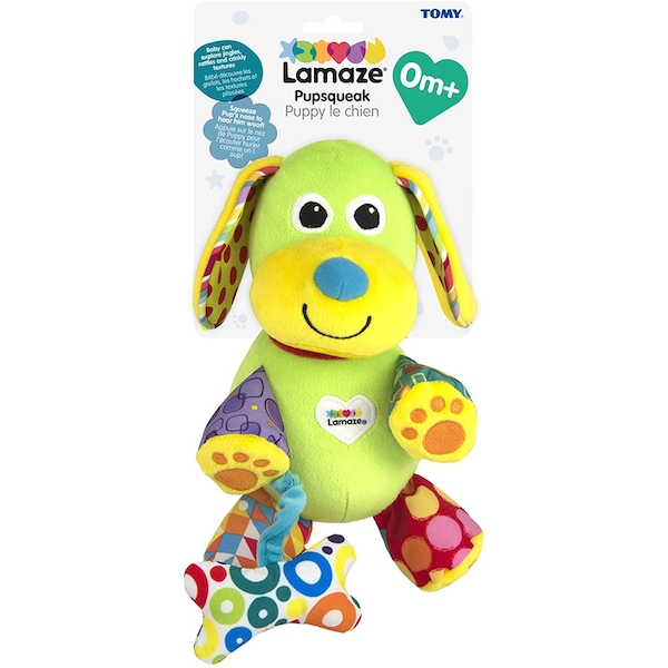 Lamaze On The Go Pupsqueak Sensory Toy for Babies - Image 1