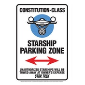 Star Trek Starship Park Zone Tin Sign