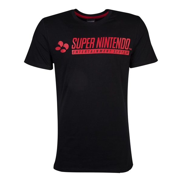 Nintendo - Snes Logo Men's X-Large T-Shirt - Black