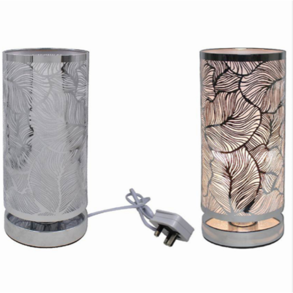 Silver Touch Lamp Leaf By Lesser & Pavey (UK Plug)