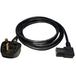 UK Mains to Right-Angled IEC Kettle 1.8m Black OEM Power Cable - Image 2