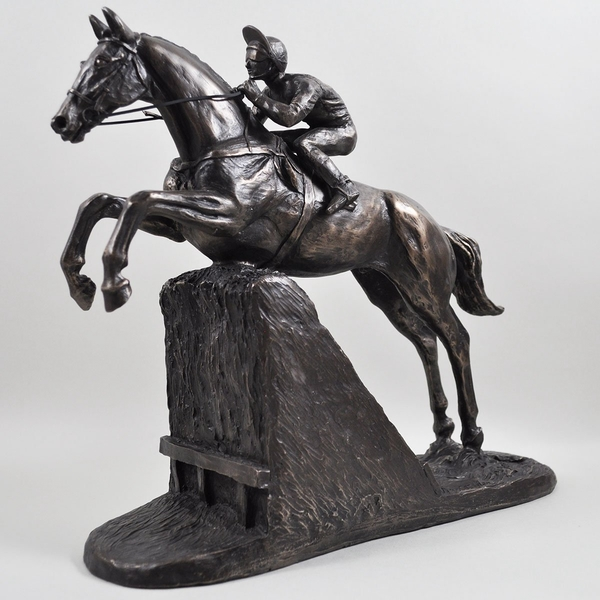 Steeple Chaser by Harriet Glen Cold Cast Bronze Sculpture
