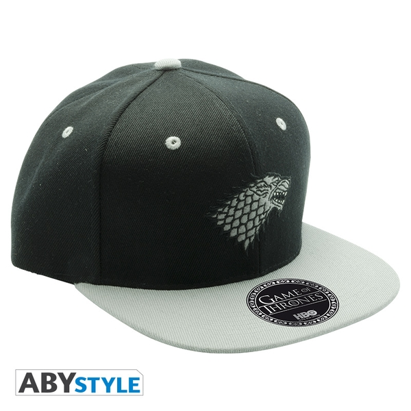 Game Of Thrones - Black & Grey - Stark Snapback Cap