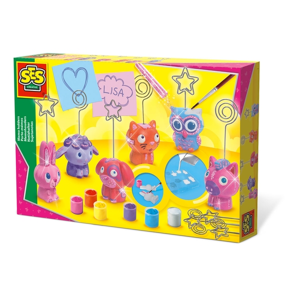 SES Creative - Children's Memo Holders Casting and Painting Set, 5-12 Years (Multi-colour)