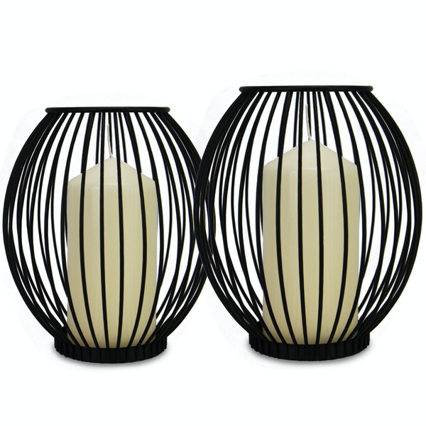 Cage Candle Holders - Set of 2 | M&W - Image 1