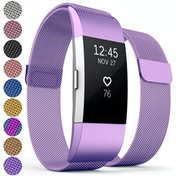 Proworks Milanese Metal Strap - Plum compatible with FitBit Charge 2