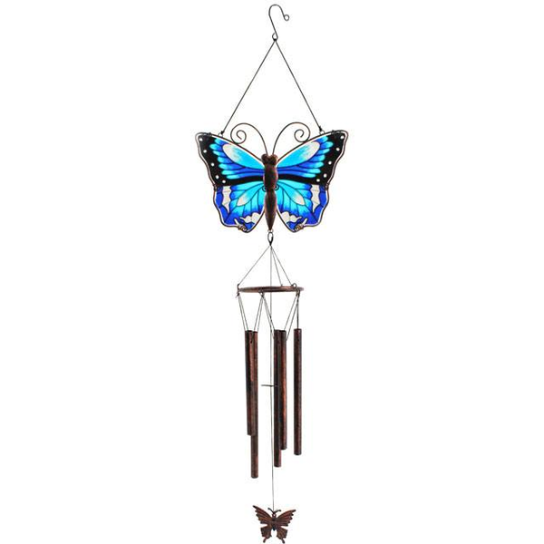 Blue Butterfly Windchime Pack Of 6