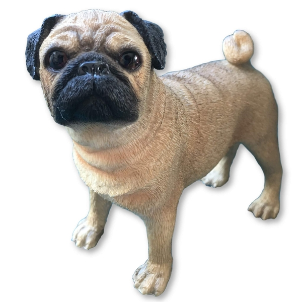 Pug Figurine By Lesser & Pavey